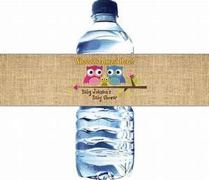 gender reveal party 30 printed water bottle labels With avery waterproof water bottle labels
