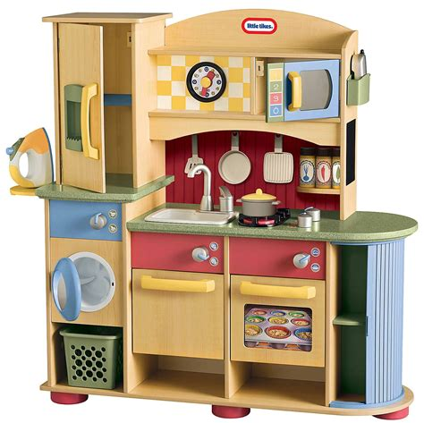 tikes deluxe wooden kitchen  laundry center