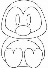Penguin Coloring Pages Penguins Printable Cartoon Animals Colouring Sheets Animal Christmas Cliparts Sheet Easy Monkey Clipart Babies Benscoloringpages Winter Kid sketch template