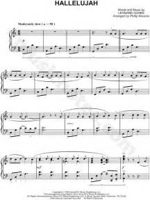 leonard cohen hallelujah sheet  piano solo