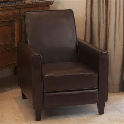 lucas brown leather recliner club chair review best