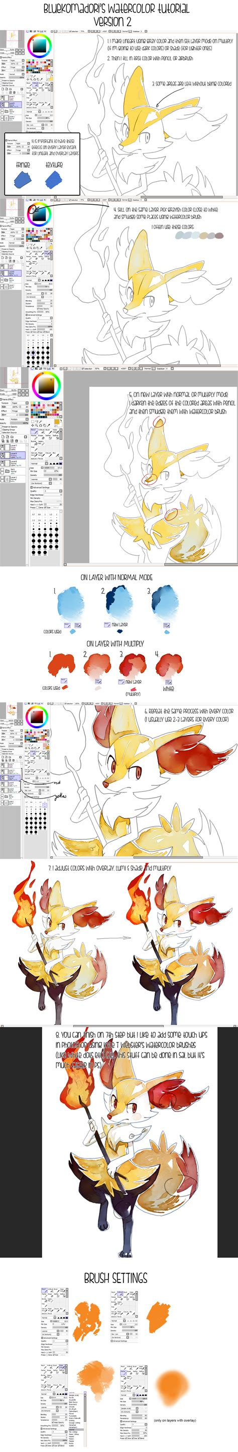sai watercolor tutorial brushes sai file by