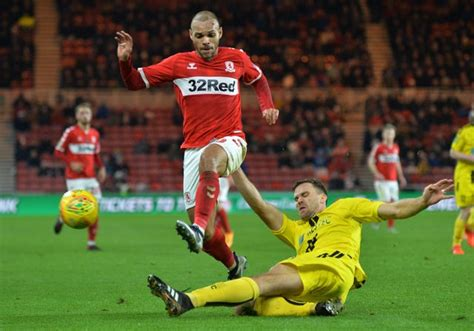 Martin Braithwaite and five other Middlesbrough players ...