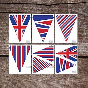 items similar to union jack printable pennant banners With pennant banner with letters