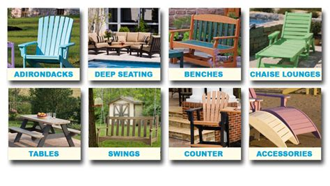 breezesta adirondacks deep seating benches chaise