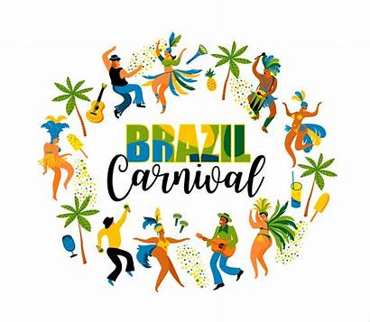Carnival Brazil Concept Clipart Element Vector Users