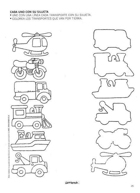Transportation Themed Worksheets For Kindergarten  Free Preschool Transportation Worksheets