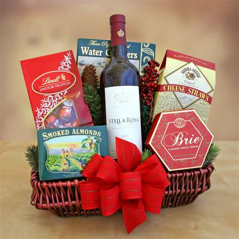 holiday gift basket stella rosa wines sweet red wines
