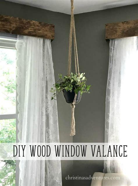 diy wood window valance christinas adventures