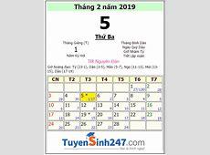 Tết 2019 vào ngày mấy dương lịch?