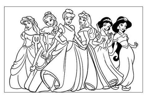 disegni di principesse disney da colorare disegni di principesse da colorare