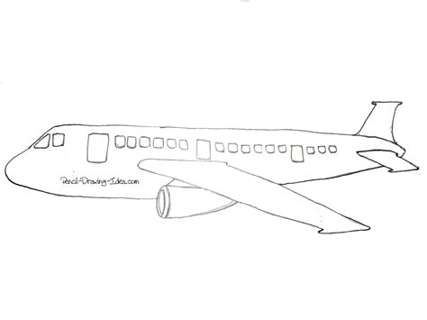 Simple Drawing Of Airplane Cartoon Drawing Cartoon
