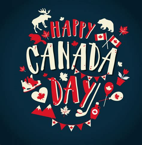 Happy Canada Day Illustration Vector Premium Download