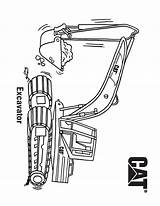 Excavator Coloring Printable Categories Construction sketch template