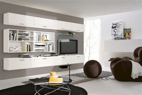 42 Modern Living Room Wall Units Ideas With Storage
