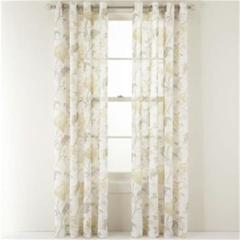 jc penney curtains martha stewart martha stewart marthawindow faded floral grommet top sheer
