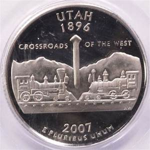 The Home Inventory 2007 S Utah State Quarter Mis Fed Planchet High Fin Rim