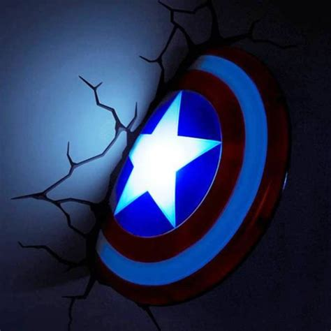 captain america shield 3d deco light energy efficient