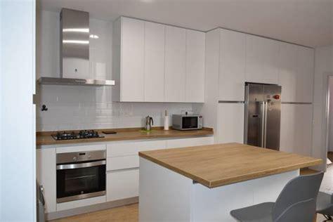 foto cocina formica blanco mate de lineal cocinas