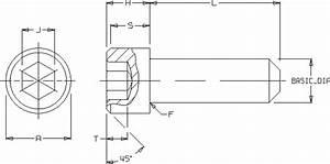 Ansi Socket Head Screw Engineering Dimensional Data Table