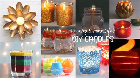 easy  beautiful diy candles