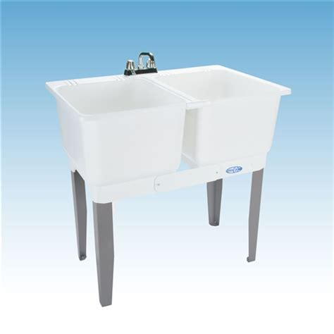 mustee  utilatwin combo laundry tub faucet supply lines
