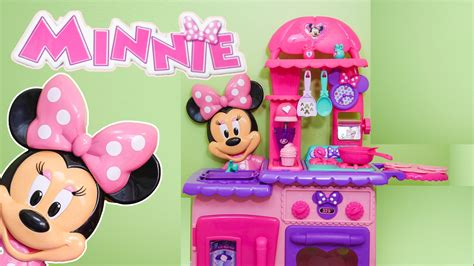 cuisine de minnie minnie mouse flipping kitchen a funnytoys unboxing
