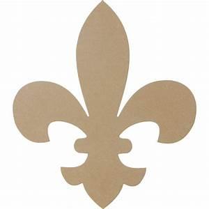 """Natural Wooden Fleur De Lis Shape: 16"""" [AB2231"""