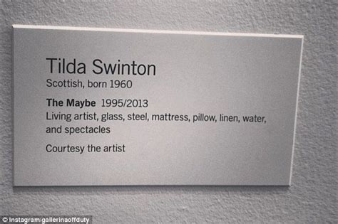 art  sleeping oscar winner tilda swinton sleeps