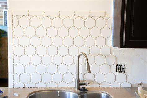 hexagon tile kitchen backsplash hexagonal tile backsplash
