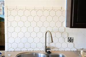 Hexagonal tile backsplash for White hexagon tile backsplash
