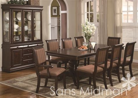piece bordeaux formal dining room set table  chairs