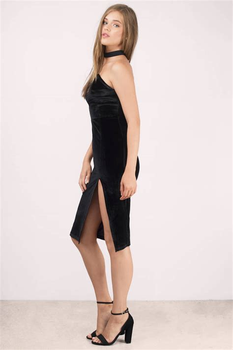 sexy black bodycon dress strapless dress bodycon dress