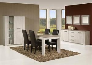 Table de salle à manger contemporaine coloris Andes oak Humphy Buffet/bahut Soldes Salle à