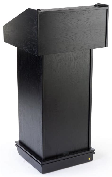 black veneer lectern converts  tabletop podium