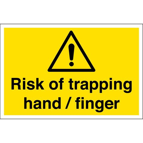 Risk Of Trapping Hand Finger Signs  From Key Signs Uk