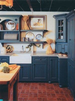colonial blue kitchen love  cupboards floor  island country kitchen designs country