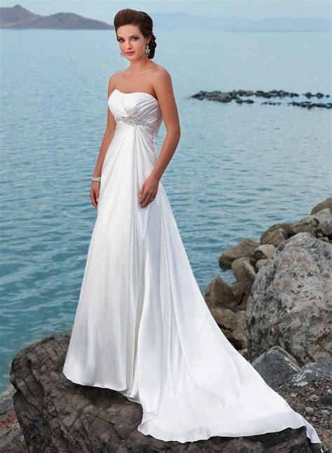 Exotic Strapless Beach Wedding Dresses - Fashion Fuz