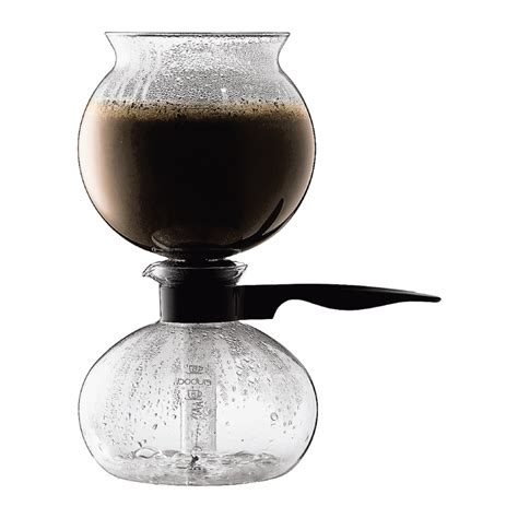 PEBO   Cafetière à dépression, en verre, 8 tasses, 1.0 l Noir   Bodum Boutique en ligne   France
