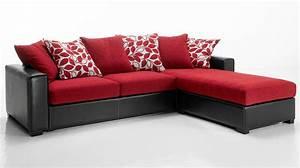 canape d39angle tissu rouge et noir pas cher canape tissu With tapis rouge avec canapé d angle réversible et convertible
