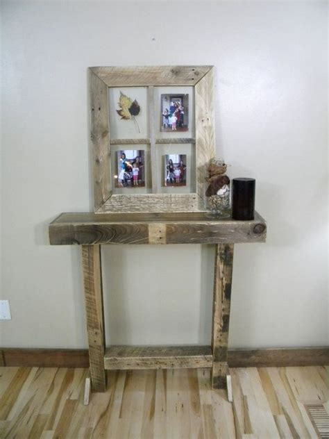 rustic wood entry table rustic entry table narrow entry table side table