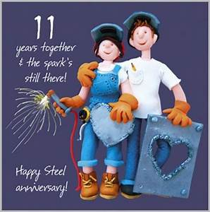 11th wedding anniversary card With 11 year wedding anniversary
