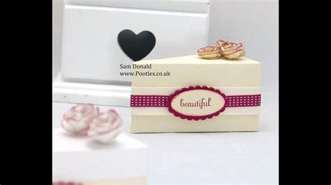 stampin  cake slice box tutorial template  needed
