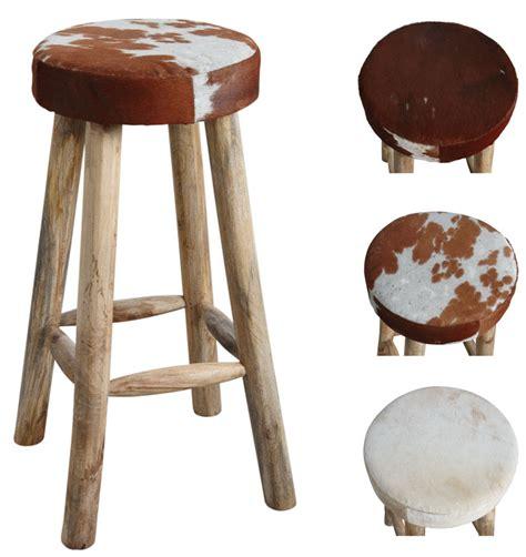 ensemble table et chaise salle manger tabouret de bar en peau de vache et bois