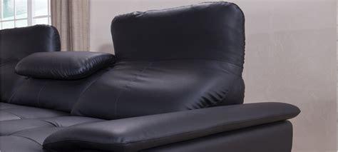 canapé d angle en cuir convertible canapé d 39 angle gauche convertible cuir noir mezzio
