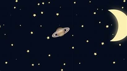 Night Cartoon Starry Moon Space Boy Crescent