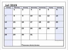 Kalenders juli 2019 ZZ Michel Zbinden NL