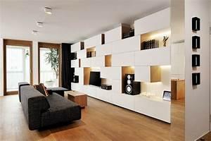 decoration d39interieur salon 135 idees en styles varies With petit meuble d entree design 5 meuble tv fox sejour meuble tv