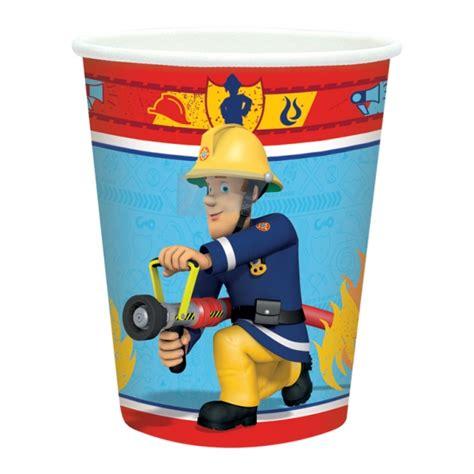 8 gobelets sam le pompier d 233 coration anniversaire et f 234 tes 224 th 232 me sur vegaoo
