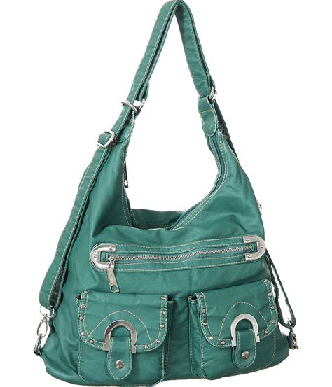 brown leather crossbody purse purse boutique teal quot emory quot backpack convertible hobo bag
